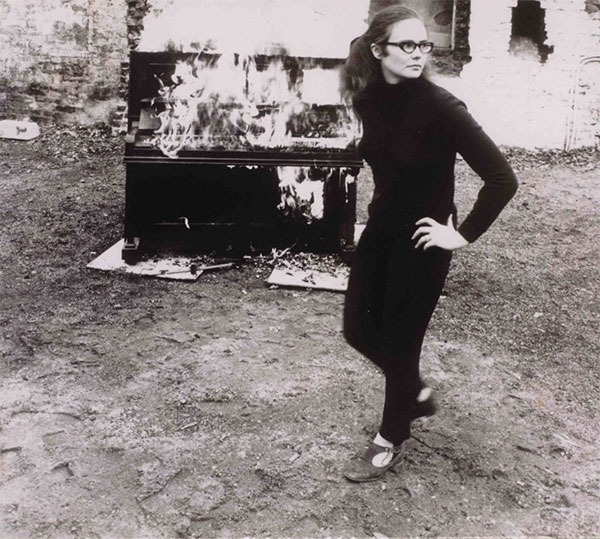 Annea Lockwood's Piano Burning, London 1968