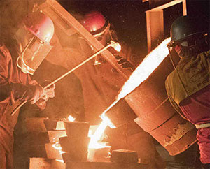 An iron pour. | Courtesy photo