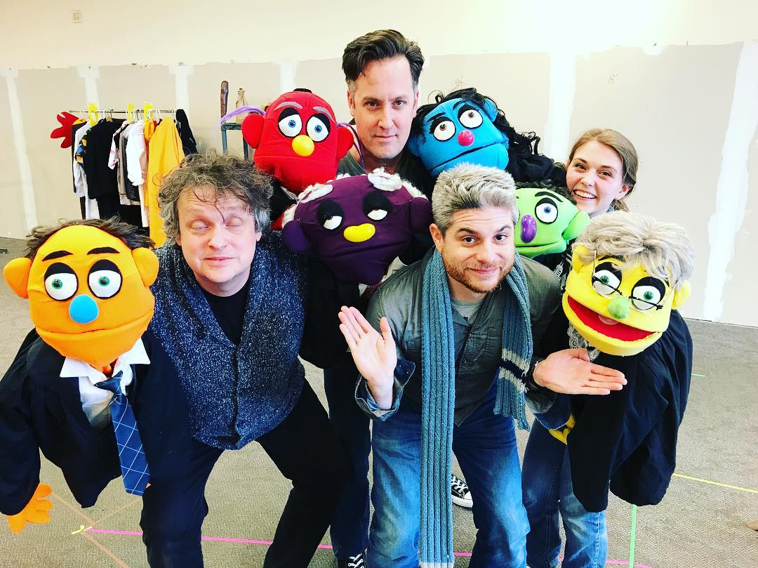 Meet the folks behind Cardinal Stage Company's production of 'The Complete History of Comedy (abridged),' from left to right: Patrick Goss, Henry McDaniel, Jesse Bernstein (director), and Frankie Bolda. Oh! And some of their friends.