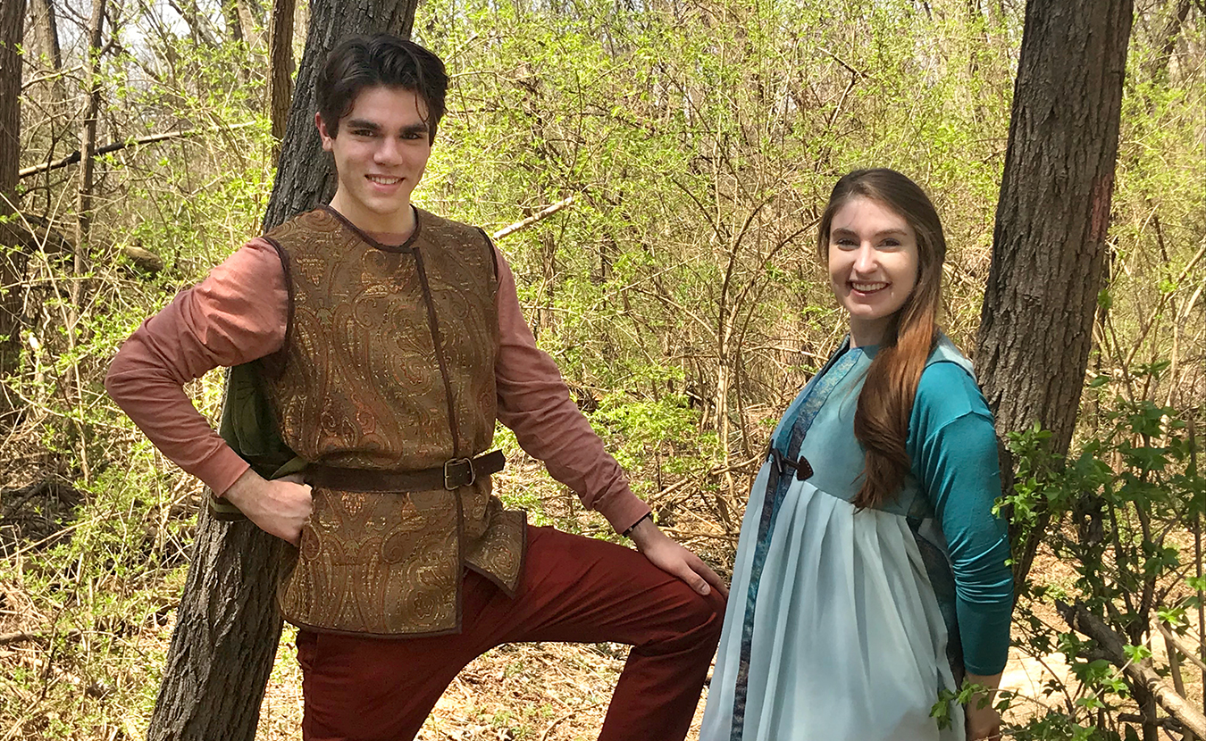 Robin Hood (Devin May) and Maid Marian (Courtney Relyea-Spivack).