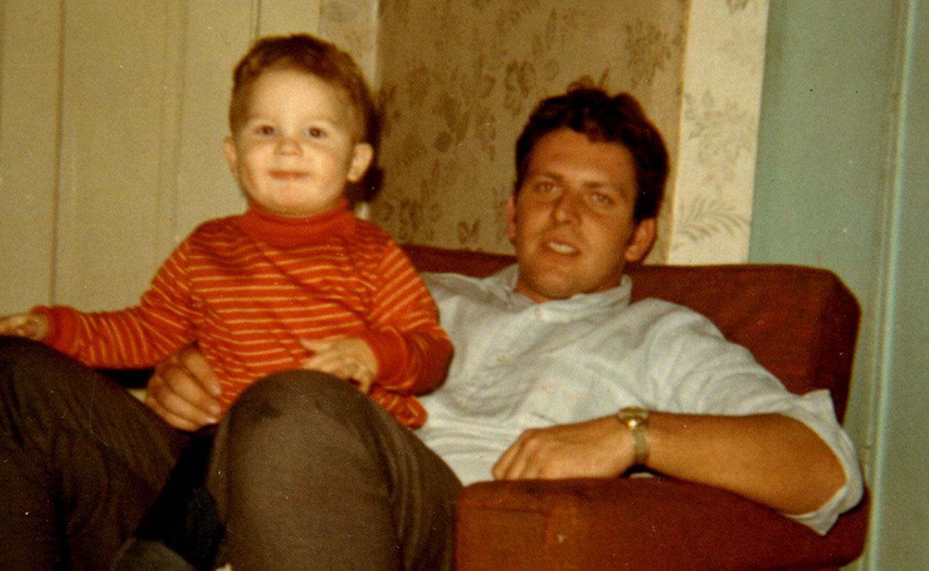 "Troy Maynard (pictured here as a child with his father) spent many years angry at his troubled father, but that changed when Troy began having children and realized fatherhood wasn't just putting ""bad drawings on your fridge."" 