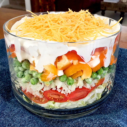 Ruthie's Seven Layer Salad. | Photo by Ruthie Cohen