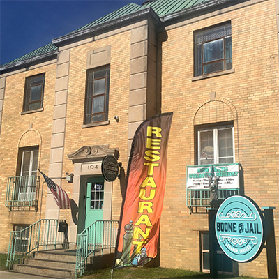 Learn about the Boone County Jail, dating back to 1938, while you eat.   Photo by Eric Fischer