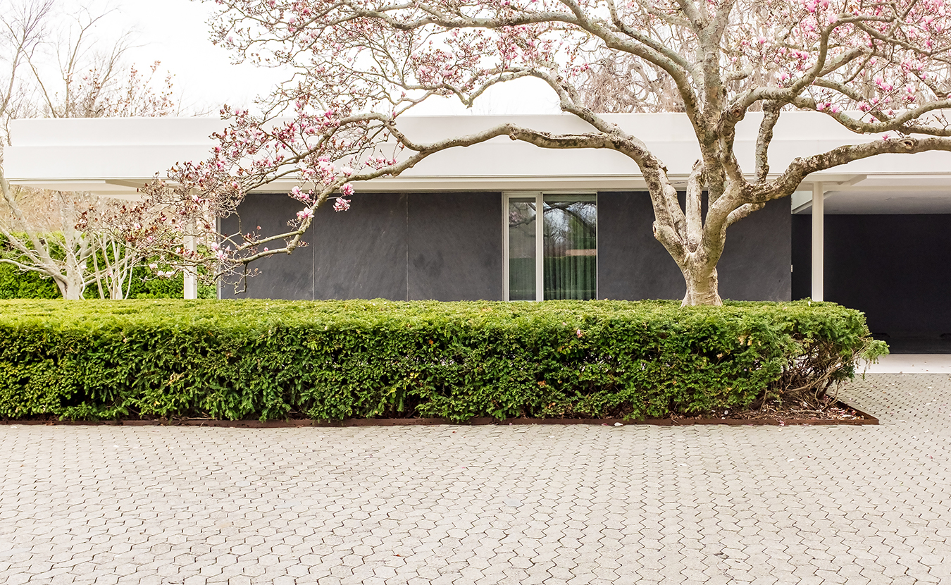One of Columbus's architectural treasures, the Miller House and Garden, designed by architect Eero Saarinen, opened in 2011 for public tours. The midcentury modern home was built in 1957 as a year-round family home for industrialist and chairman of Cummins Engine Co. J. Irwin Miller and his family. | Photo by Adam Reynolds