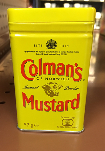Now Colman's Mustard is a part of Ruthie's well-stocked kitchen. | Photo by Ruthie Cohen