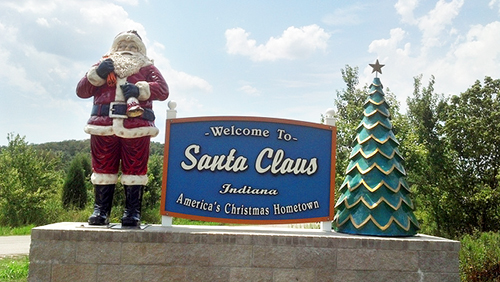 Experience Christmas in July in Santa Claus, Indiana. | Photo by tengrrl