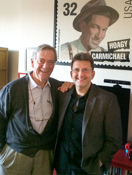 Todd Gould (right) is currently working on a documentary about Gennett Records, which recorded famous jazz musicians of the early 20th century. Here, Gould stands with Hoagy Carmichael's son, Hoagy Bix Carmichael, during an interview in New York City. | Courtesy photo