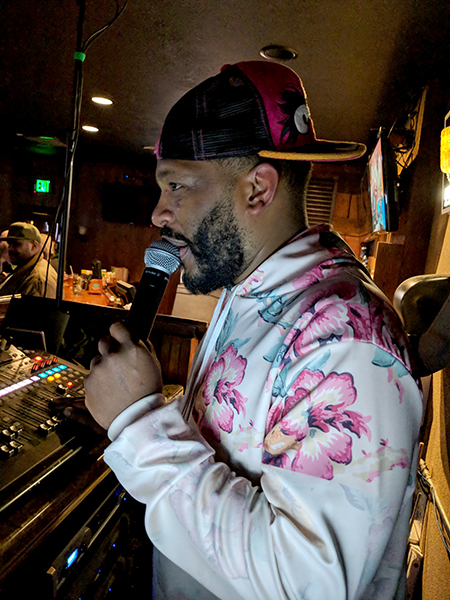 "Mosley hosts karaoke performances at several Bloomington venues and has created ""a community of misfits."" 