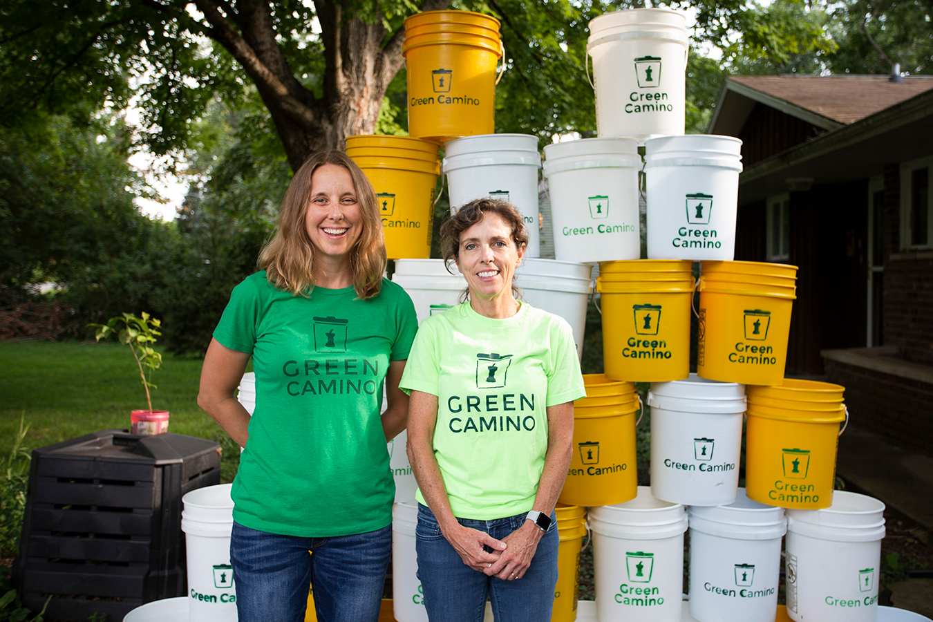 "Randi Cox, left, and Kathy Gutowsky of Green Camino Inc. originally planned to make their composting business a nonprofit. But after some research, they learned that they could become a benefit corporation or ""B corp"" — a for-profit business that also strives to create a general public benefit. 