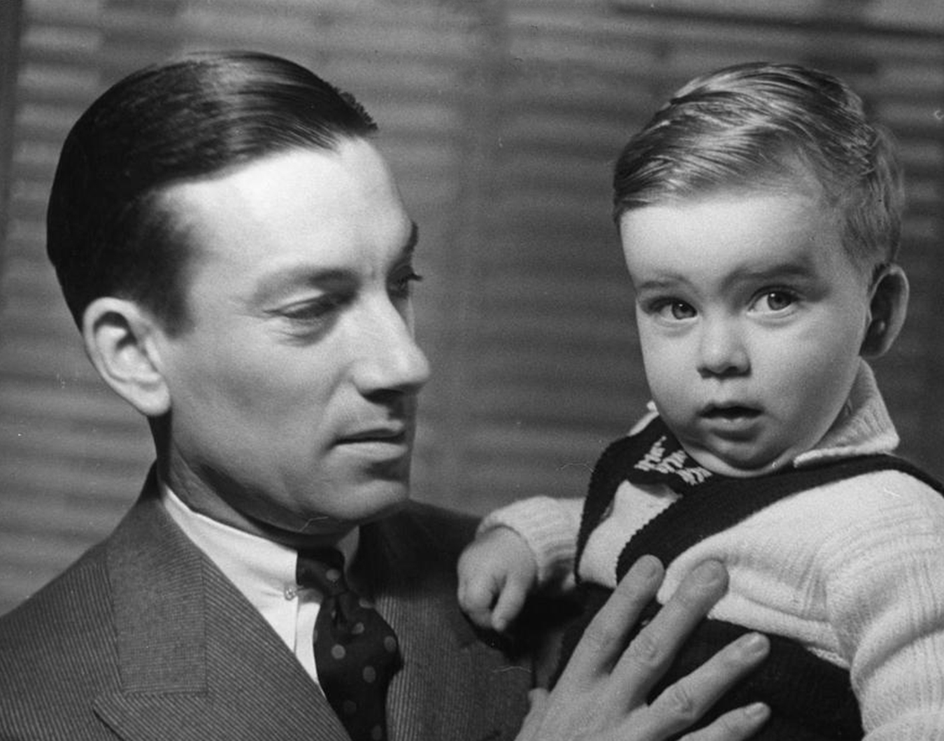 "Hoagy Carmichael holds son Hoagy Bix in the early 1940s. More recently, Hoagy Bix was in town for IU Theatre's production of ""Stardust Road: A Hoagy Carmichael Musical Journey,"" and he talked with writer Michael G. Glab about growing up in Hollywood, his famous namesakes (Hoagy and Bix), and the musical that is premiering in Bloomington. 