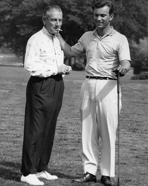 Hoagy, left, and Hoagy Bix on the golf course. | HC Series 3, Box 9, item 59. Hoagy Carmichael Collection, Archives of Traditional Music, Indiana University