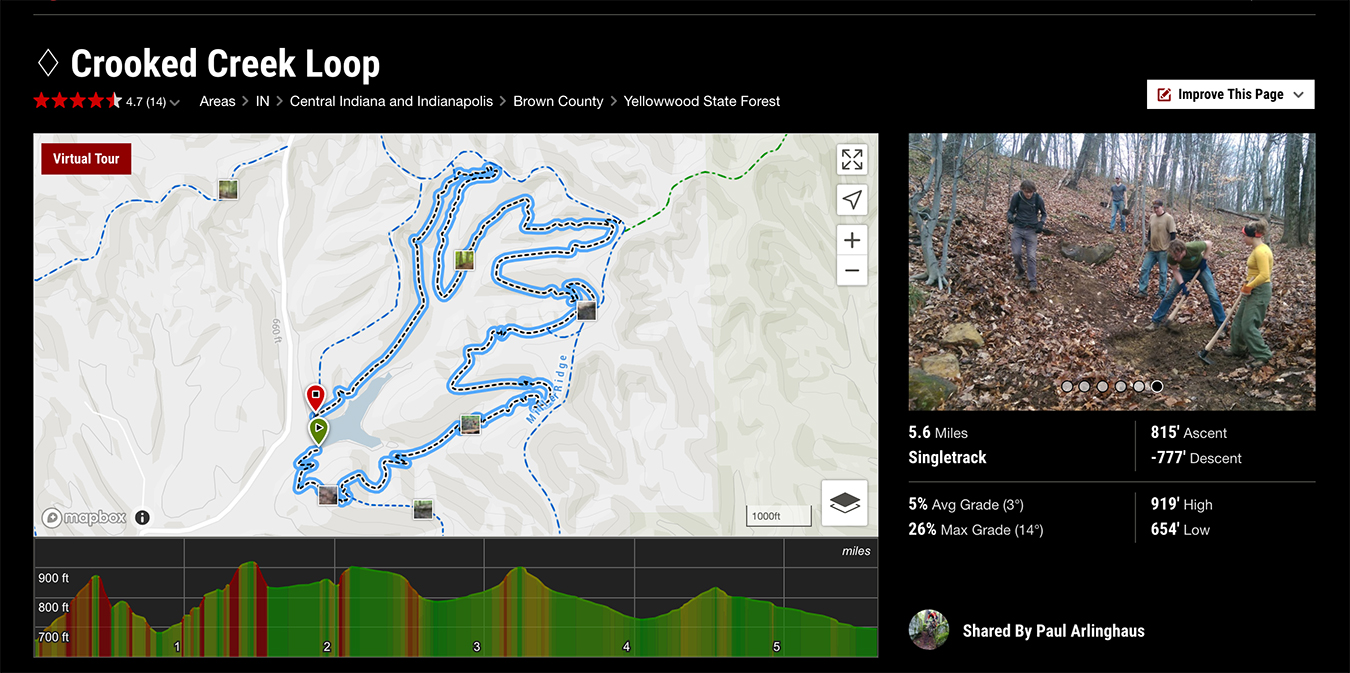 The MTB Project has a database of more than 100,000 trails in the U.S.