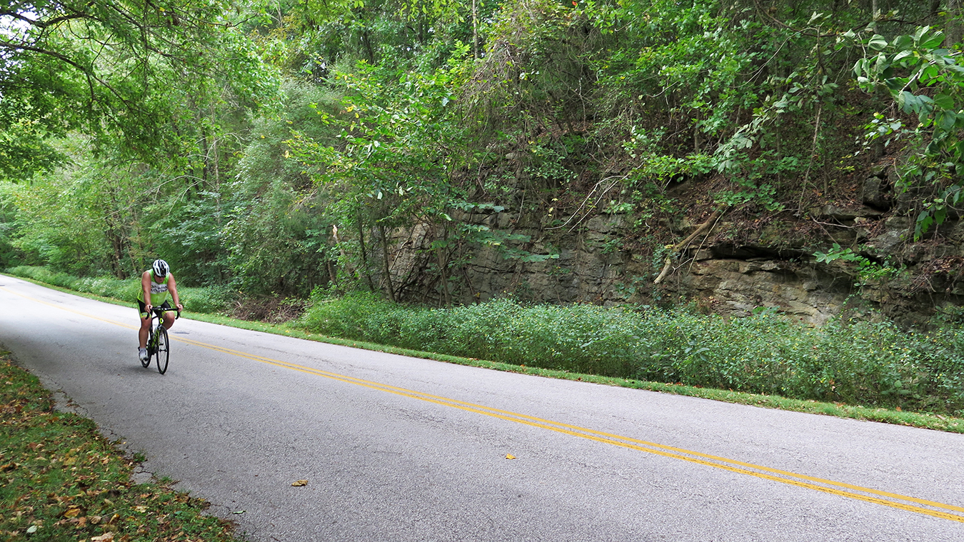 Riders can choose from an abundance of roads that pass through the beautiful topography of southern Indiana, such as this, Monroe Dam Road, by Monroe Lake. | Limestone Post