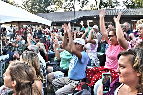 Crowds enjoy a performance of Juice Box Heroes at Lanesville Heritage Weekend in 2016. | Photo courtesy of the Lanesville Heritage Society