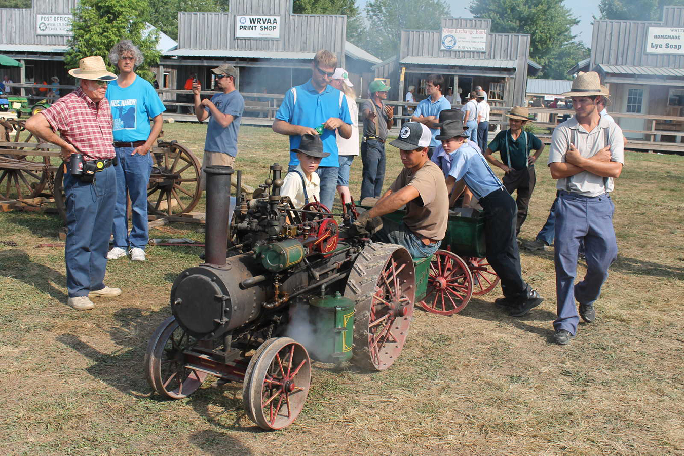 In Elnora, tractors of all sizes are displayed. | Photo courtesy of the Greene County Daily World