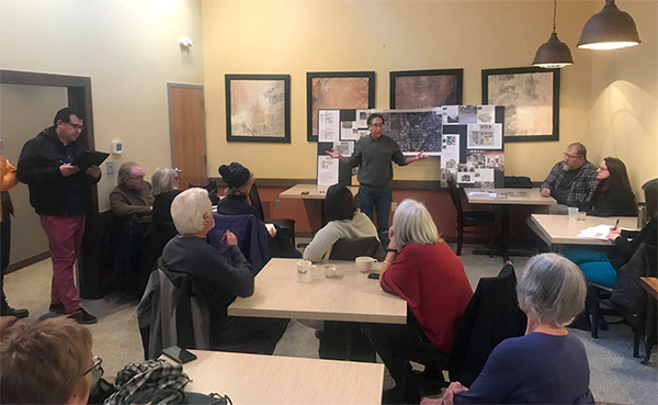 Marion Sinclair has been spearheading the Bloomington Cohousing Project for years. Design is moving along, with periodical updates from Loren Wood Builders. Group meetings such as this one will continue once the project is completed. | Courtesy photo