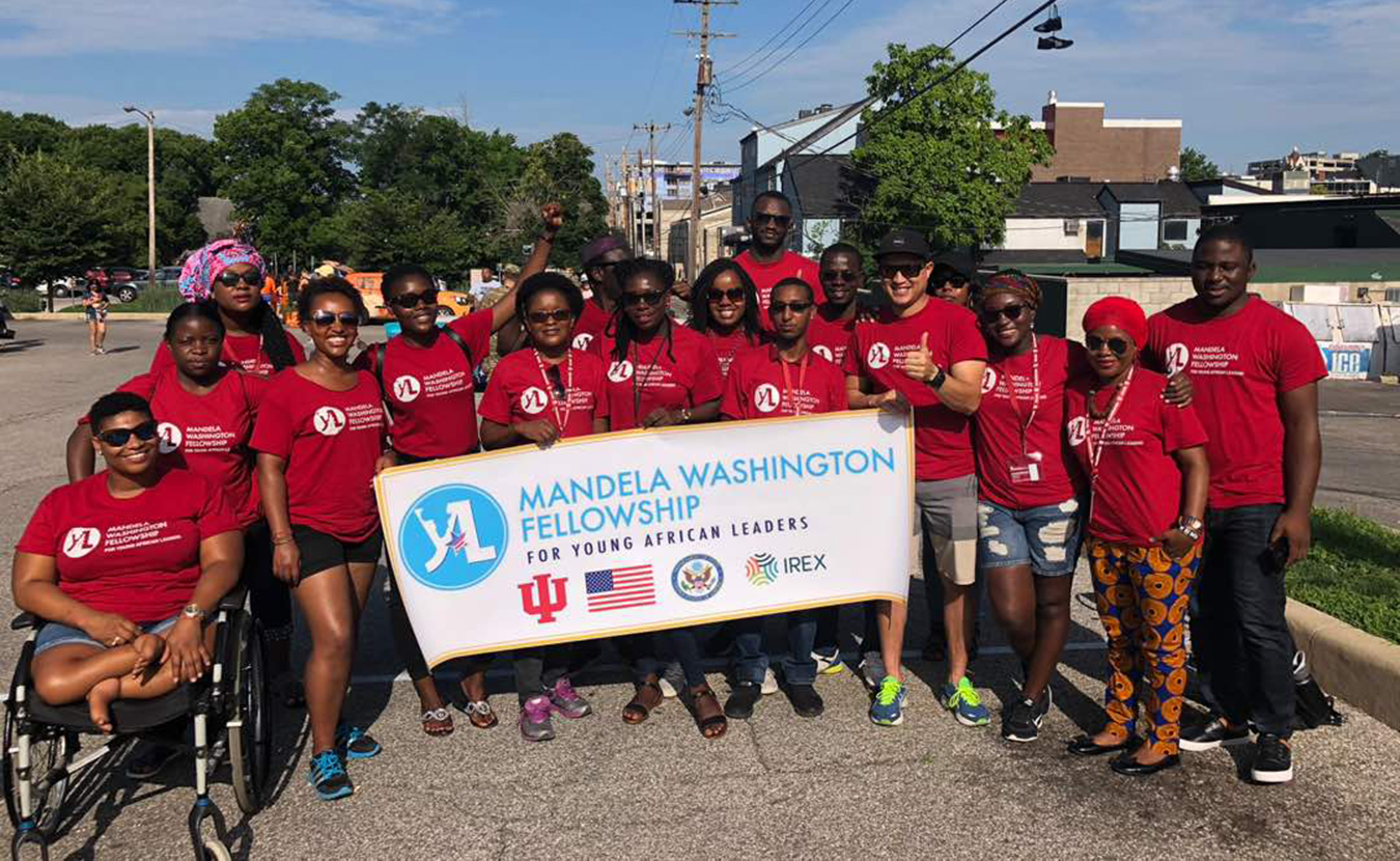 This summer, 25 IU Mandela Washington Fellows took part in Bloomington's 4th of July Parade. Sierra Leone's Eastina Marian Boimadi Taylor says she met many inspiring people while in Indiana, and and she is using many of their ideas back home. | Courtesy photo
