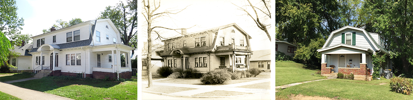 "(from left) The Fulwider family moved from their house in what is now Prospect Hill to this house at East 7th and North Lincoln streets, in what Fulwider considered the more affluent side of town where professors ""lived in the clouds away from reality."" As an adult in the late 1930s, Fulwider returned to Bloomington and lived in a house on the ""wrong side of the tracks,"" in what is now Maple Heights. 