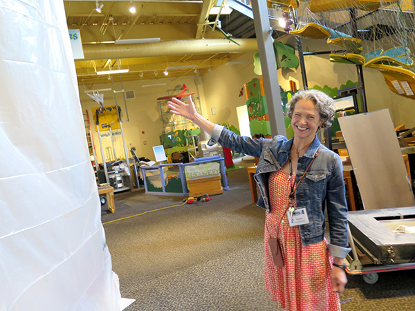 Local scientists have teamed up with the staff at WonderLab to create exhibits and activities tailor-made for the museum's youngest patrons. Executive Director Karen Jepson-Innes shows some of the construction of the coming Science Sprouts Place. | Limestone Post
