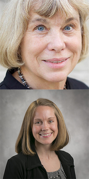 IU psychology's Linda Smith (top) and Emily Fyfe work in infant development. | Courtesy photos
