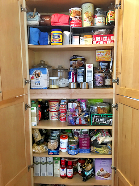 Ruthie's well-stocked pantry allows her to avoid last-minute grocery trips. | Photo by Ruthie Cohen