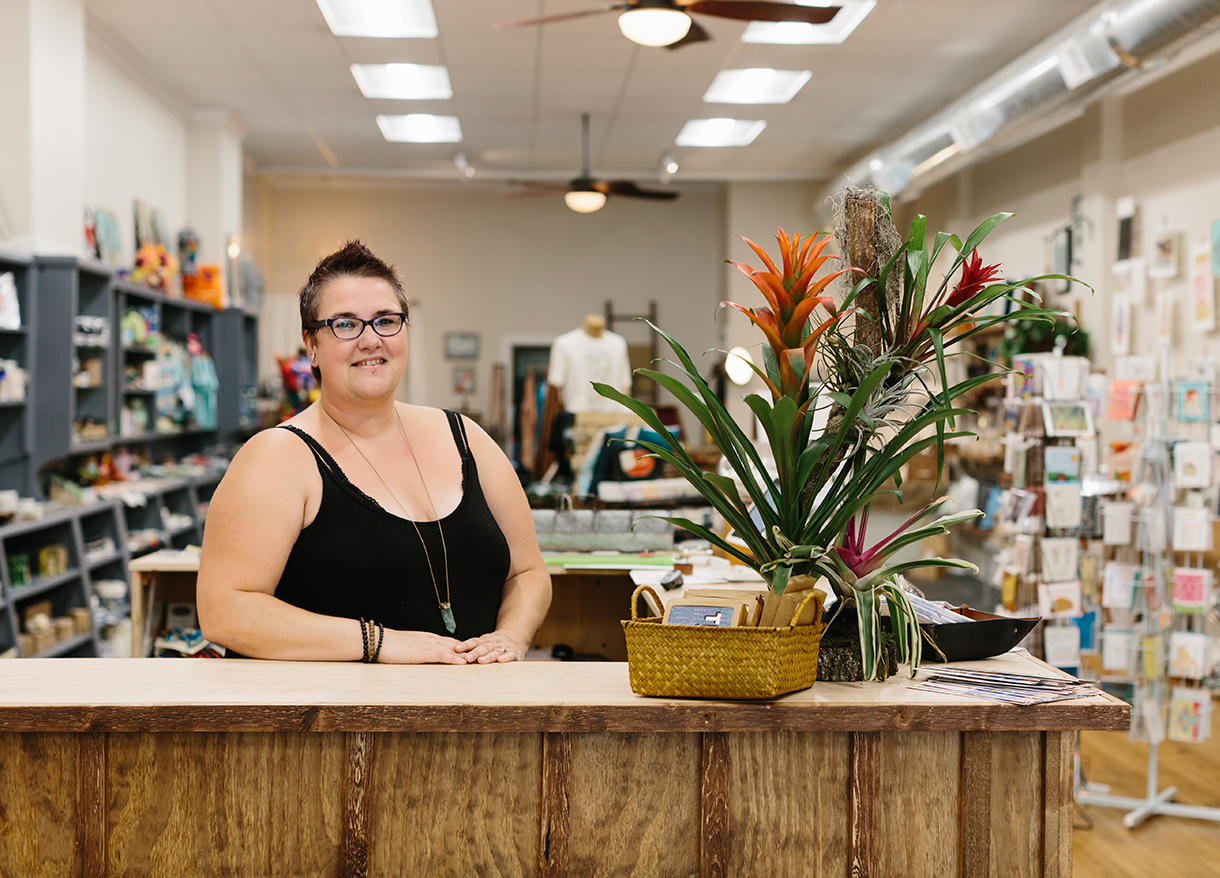 """There are so many talented people in Bloomington and the state, but it can be hard for them to get their products to market,"" says Talia Halliday, owner of Gather : handmade shoppe & Co.:. ""I want to help them be successful and help build a supportive community."" Gather stocks handmade goods by more than 250 makers and artists and hosts pop-up events that give the opportunity to showcase the breadth of their work and to engage with customers firsthand. 