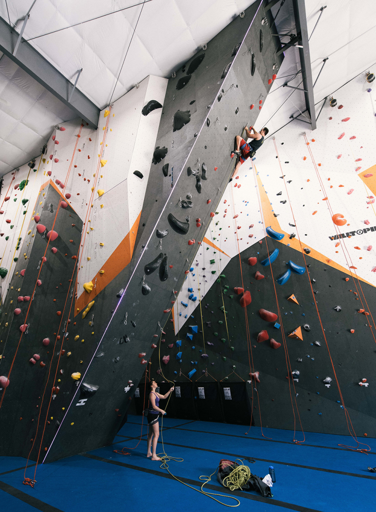 "The staff of Hoosier Heights regularly re-work the climbing routes so that the climbing experience is fresh and fun for climbers of all levels. ""Creating routes is an art and science,"" says General Manager Tyler Bartle."