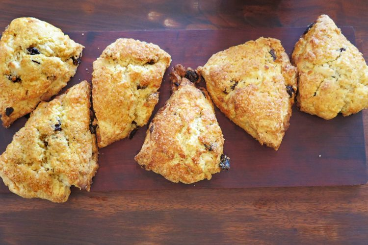 """For many, suppressing the feeling of hunger with restrictive diets only leads to more-intense levels of hunger, writes Amanda Boyer. Think """"hangry."""" But the practice of intuitive eating — eating in a way that honors and respects your body's hunger and fullness as well as your cravings, such as for a scone (pictured here at Two Sticks Bakery) — could be a more healthful and pleasurable approach to food, without dieting.   Limestone Post"""