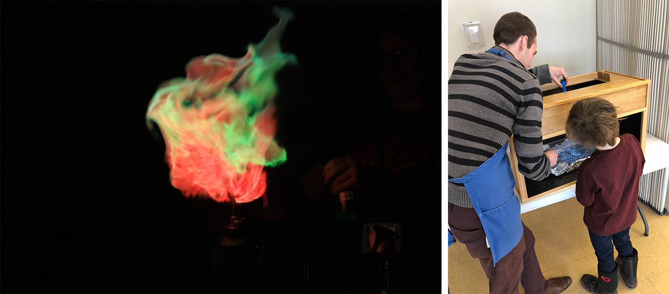 WonderLab's variety of Interactive Science Shows include Bright Flames, left, and Why Stars Twinkle.