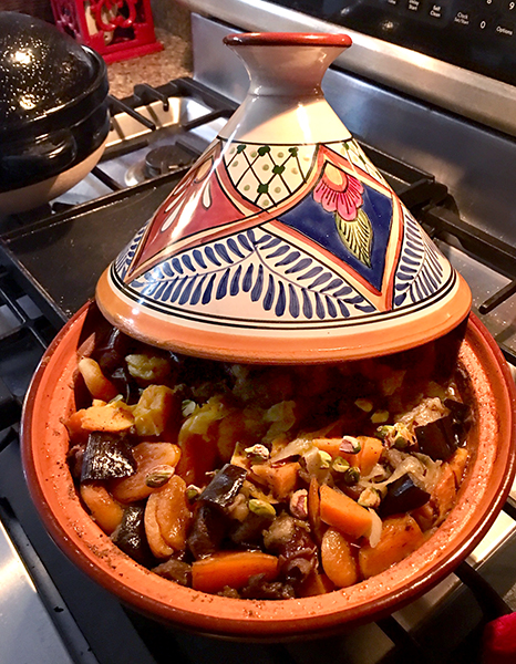 Ruthie's Lamb or Chicken Tagine with Apricots and Dates. | Photo by Ruthie Cohen