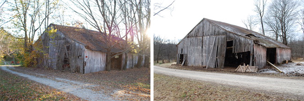 The Borland barn, prior to historic preservationist and folklorist Duncan Campbell's restoration. | Courtesy photos