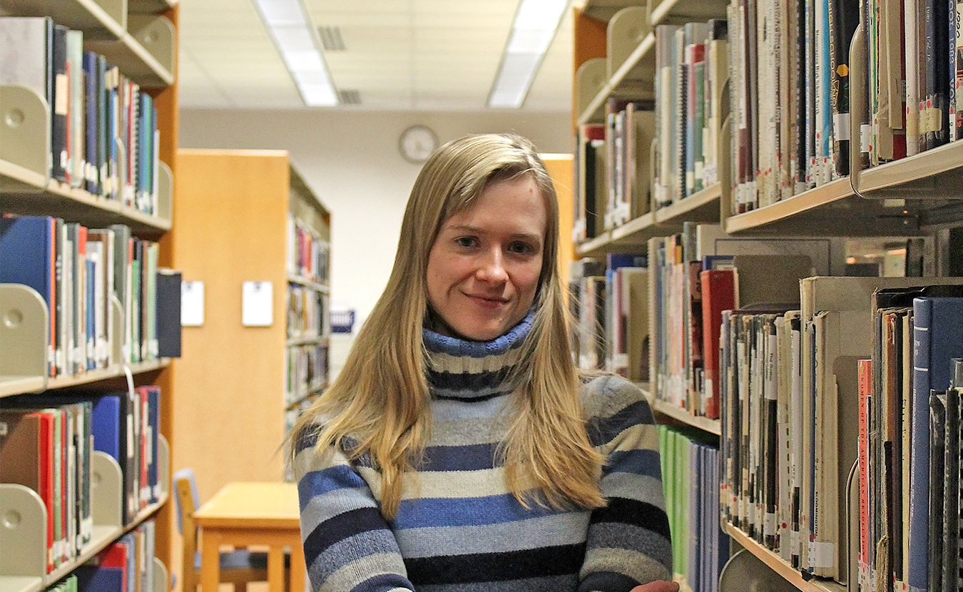 """While strides have been made toward income equity between men and women, Indiana ranks 49th in the country in gender wage gap. Amanda Stephens (pictured), a lawyer and Ph.D. candidate in gender studies, says, """"We need to look at what is going on in our society that allows this pay gap to persist.""""   Photo by Nicole McPheeters"""
