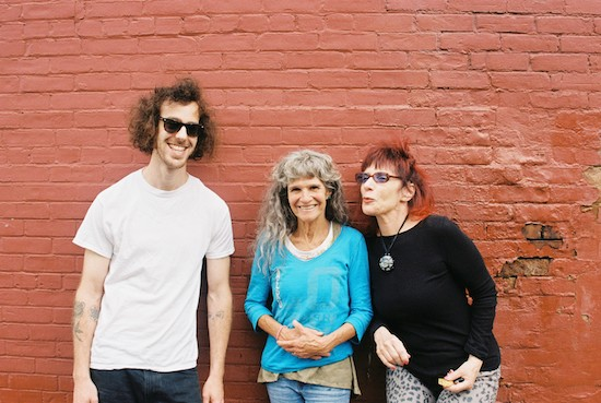 (l-r) David Shapiro, Kath Bloom, and Flo Ness. Bloom will perform at Landlocked on May 1, with local songwriter Kate Long opening. | Photo by Kyle McEvoy