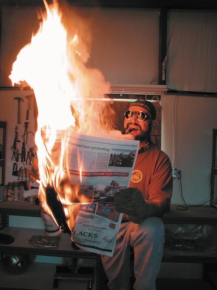 Masse's mentor, Jack Gron (above), a retired professor of art at Texas A&M University-Corpus Christi, will be honored at this year's Fire@Night Iron Pour. | Photo by Paula Gron