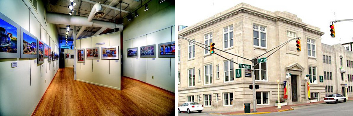(left) Gallery SCG, Fountain Square, 101 W. Kirkwood Ave. #12
