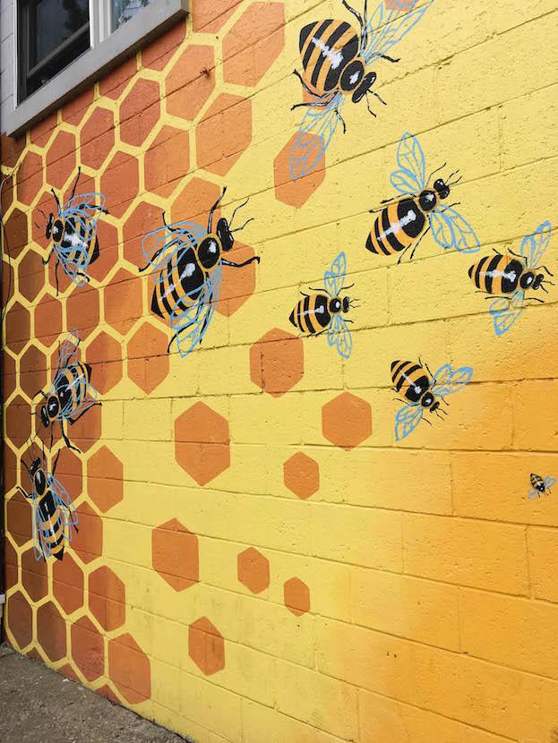 Artisan Alley 'Hive Mind' (2018), 222 W. 2nd St. — artist, Laura Brikmanis