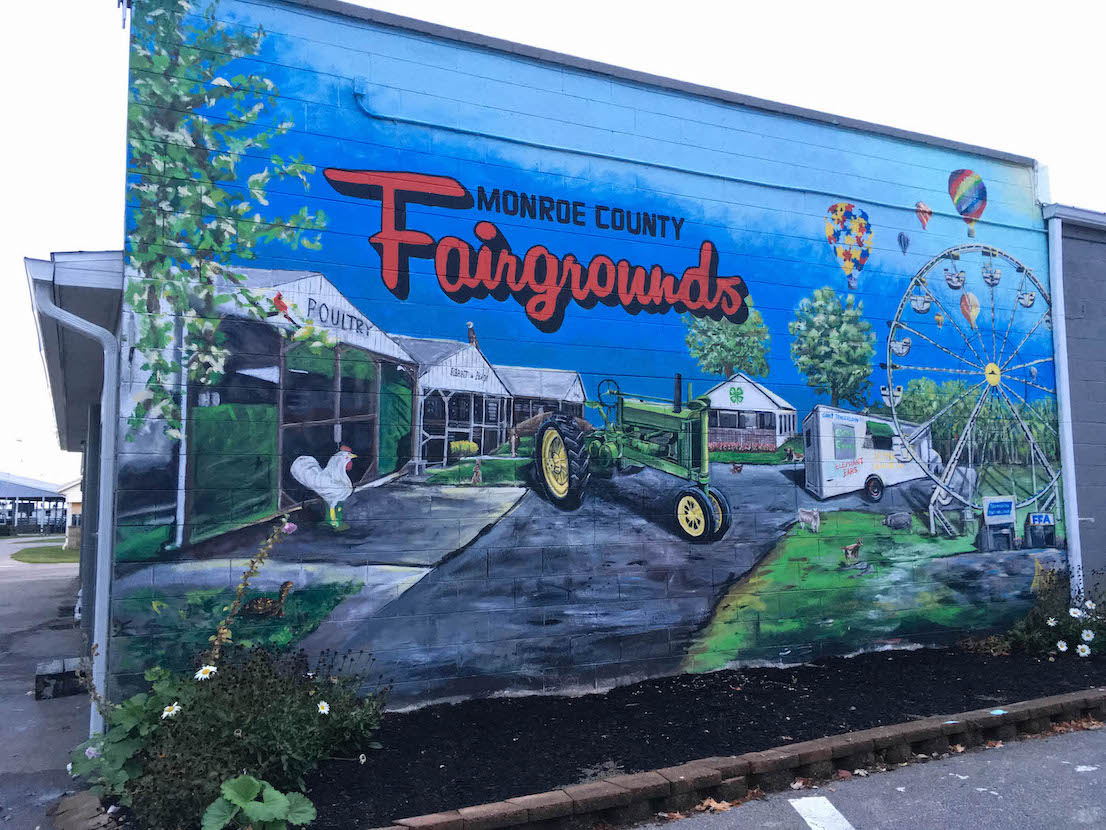 Monroe County Fairgrounds (2019), 5454 W. Airport Rd., artist — Adam Long