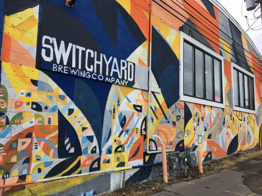 Switchyard Brewing (2018), 419 N. Walnut St., artist — Justus Roe