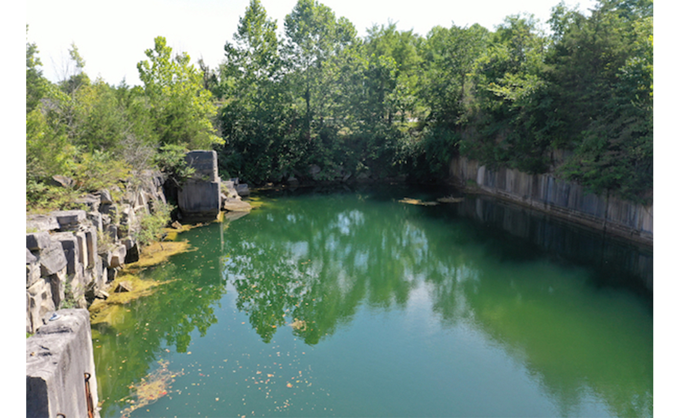 Long Hole Quarry from a ledge. | Photo by Geoff McKim