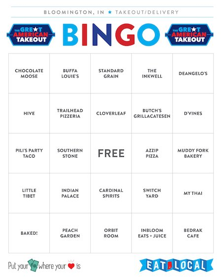 Bingo Card #3 | Kaye Lee Johnston