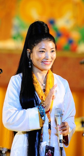 Lotus Blossoms brought Yungchen Lhamo, a renowned Tibetan singer-songwriter, to Medora, Indiana. | Photo courtesy of Yungchen Lhamo