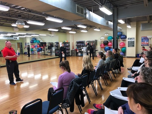 """In February, before the COVID-19 pandemic put events on hold, WINGS held a self-defense course. """"Self-defense is one of the unique ideas that happen when you have six women organizing,"""" says Sandy Clark-Kolaks, one of the WINGS organizers.   Photo by Rebecca Jania"""