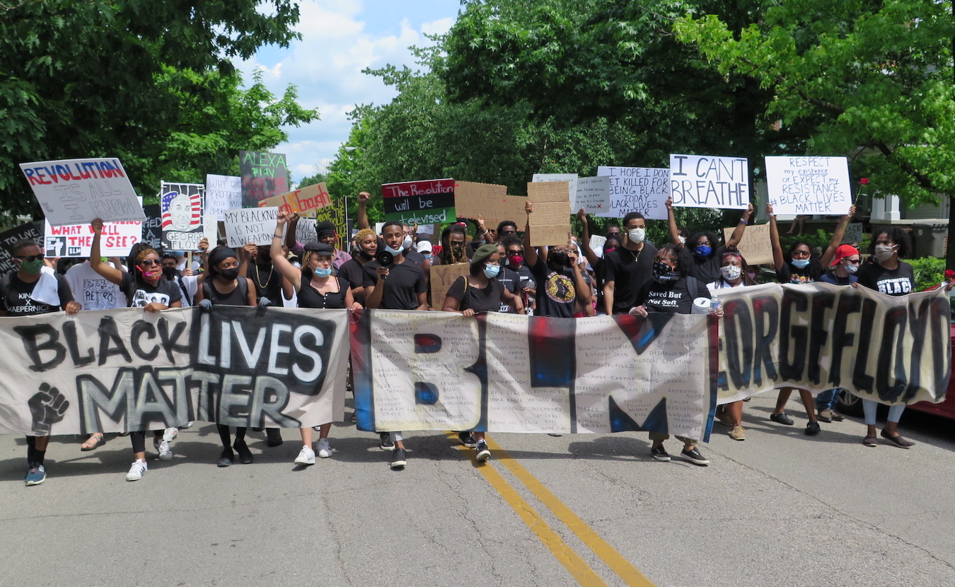 On June 5 in Bloomington, a peaceful march and protest called 'Enough Is Enough' was held in response to nationwide police brutality against people of color. Organizers emphasized that people's energy at the event was encouraging but the fight for racial justice will be ongoing. | Limestone Post
