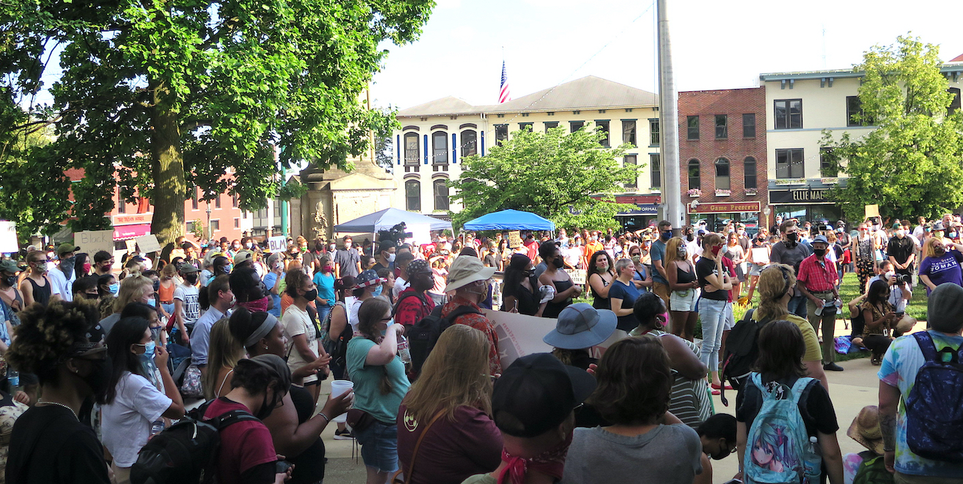 Speakers urged the crowd of hundreds gathered on the courthouse lawn to take action against entrenched and ongoing racism, and urged them to hold elected officials accountable for change and racial justice. | Limestone Post
