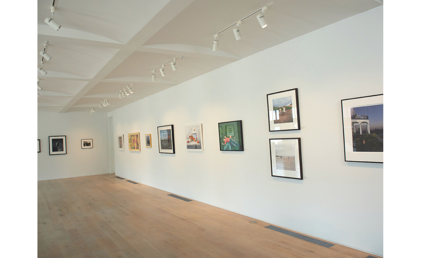 Strobel says the pale wood floors and white walls at Pictura Gallery, part of the FAR Center for Contemporary Arts, are well-suited for displaying the gallery's contemporary fine art photography. | Photo by Paige Strobel