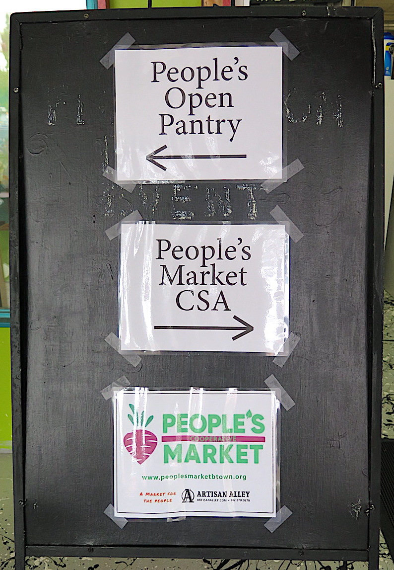 People's Open Pantry and the People's Market CSA are open every Saturday from 11 a.m. to 1 p.m. at Artisan Alley, just off the B-Line Trail at 222 W. 2ndSt. (CSA orders must be placed in advance. More details at the end of the article.) | Limestone Post