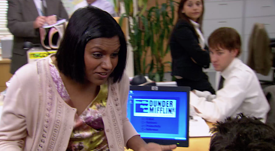 From 'The Office,' when Kelly Kapoor (Mindy Kaling) tells a co-worker how Netflix works: 'I go click, click, click. … It's so easy, Ryan. Do you really not know how Netflix works?'