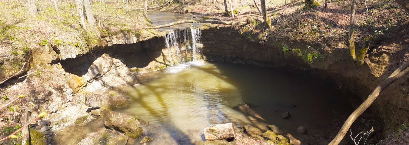 Rock Rest Falls at Calli Nature Preserve in Jennings County.   Photo by Diane Walker