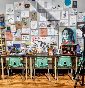 On Washington Street in Greencastle, Conspire: Contemporary Craft is a teen community center as well as a store that works with 130 local and regional craftspeople to sell handmade products.   Photo by Diane Walker