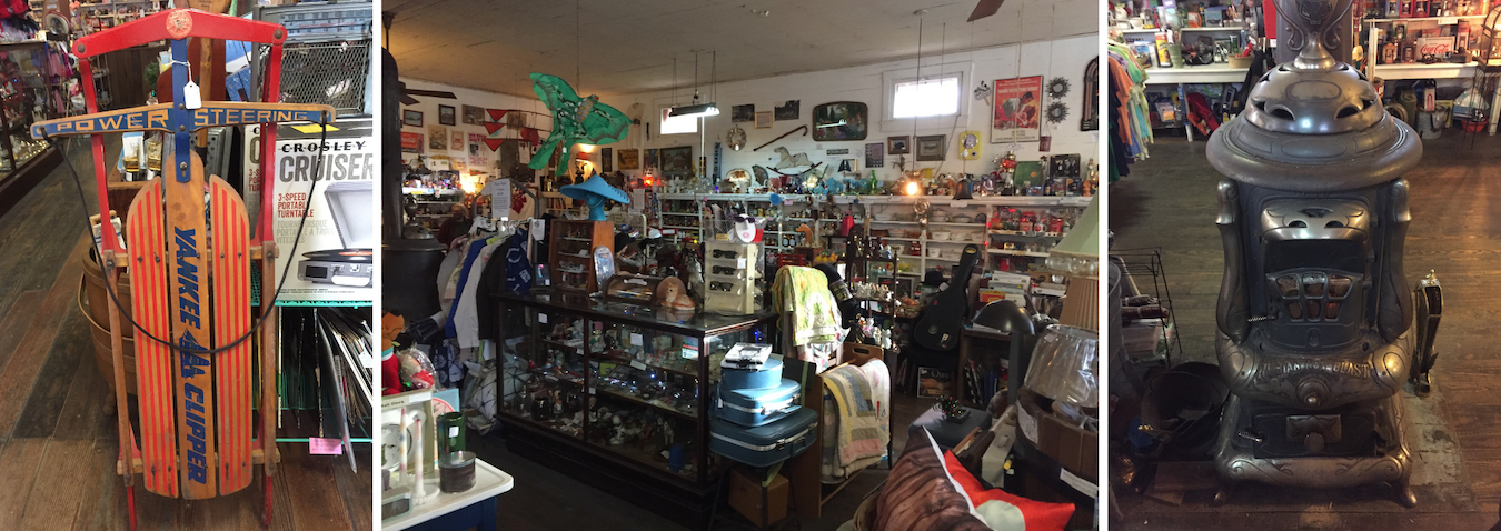 The Cataract General Store is 'a vast amount of fun,' Walker writes, where vintage merchandise is 'cheek by jowl' with items like homemade salsa, specialty soda, and 'other weird, funny, one-of-a-kind items.'   Limestone Post